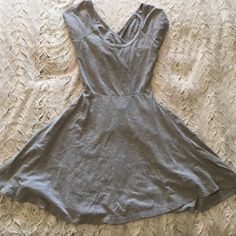 Grey Brandy Melville dress Grey, one size, I'm great used condition, no flaws, perfect for summer Brandy Melville Dresses Mini