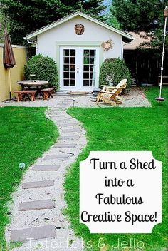 Turn a shed into a creative space.