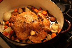 Roast Chicken for Les Paresseux for French Fridays with Dorie (From Around My French Table cookbook)