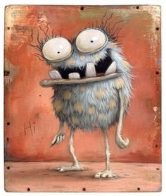 Zozoville Gallery – the artwork of Mateo Dineen and Johan Potma Cartoon Monsters, Cute Monsters, Cartoon Art, Monster Drawing, Monster Art, Art Et Illustration, Illustrations, Art Fantaisiste, Art Mignon
