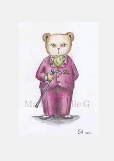 NEW The Dandy Teddy by MademoiselleG on Etsy