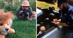 Son grande las diferencias entre padre y madre cuando se trata de divertirse; aquí 12 Fotos que son cortas historias entre un divertido padre y su hija