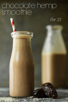 Creamy Chocolate Hemp Smoothie for Two (oh she glows)
