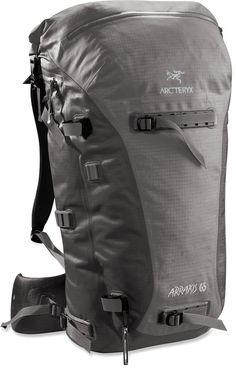 Arc'teryx Arrakis 65 - Weather resistant and seam-sealed, durable backpack, ideal for skiing, cragging and hiking.