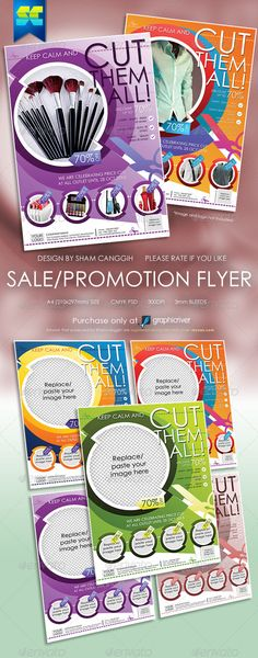 Multi Purpose Sales Flyers — Photoshop PSD #pamphlet #cut