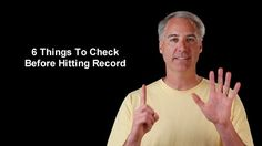 6 Things to Check Before Hitting the Movie Record Button On Your DSLR by Dave Dugdale. http://www.learningdslrvideo.com/check-before-record/