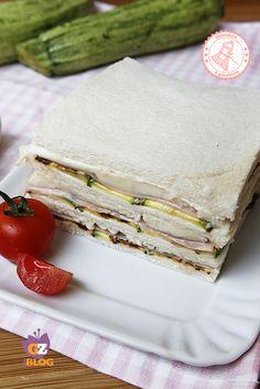 torta fredda zucchine prosciutto mozzarella