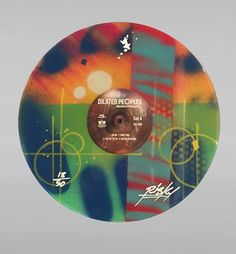 Los Angeles OG graffiti artist RISK has teamed up with rap group Dilated Peoples to release a limited edition hand painted vinyl record just in time for the holidays. The edition is limited to 50 pieces and all records are signed and numbered by the artists, with signatures of all three band members. Available thru Risk's site riskrock.com