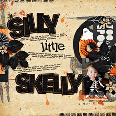 """Layout by Sara  Using """"Cut Out Cards: Halloween Edition"""" and lots of other fun Britt-ish Designs products!"""