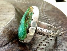 Turquoise Ring, Seven Dwarfs Mine Turquoise Ring, Sterling Silver Ring, Woman's…