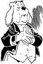 Joost. Bediende van heer Bommel, zijn meester, heer Olivier. Verzorgt en serveert eenvoudige doch voedzame maaltijden, meestal met de ogen (bijna) gesloten. Gaat correct gekleed. Maar onder zijn vest, zegt hijzelf, klopt een gevoelig hart. Verzorgt ook de tuin bij slot Bommelstein. Houdt bovendien van krachtig stofzuigen. Kent zijn plicht en zijn plaats. Hetgeen blijkt uit opmerkingen als excuseer, als ik zo vrij mag zijn, met uw welnemen, als u mij toestaat, als u mij wilt verschonen. Weet…