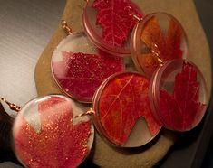 resin leaf ornament
