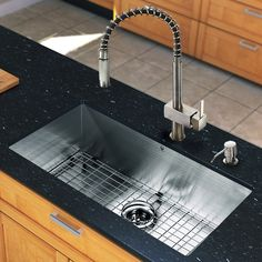 """All in One 30"""" x 19"""" Undermount Kitchen Sink and 18"""" Faucet Set"""