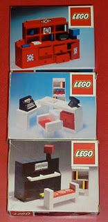 1970s Lego furniture.  I had a dolls house totally furnished in lego.  I loved my red dresser