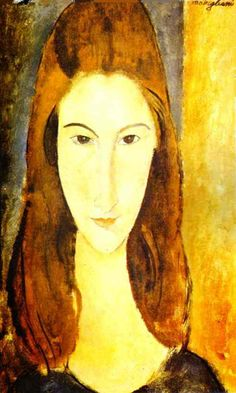 amedeo modigliani, portrait of jeanne hebuterne.  i'm told she looks just like me, and I have to agree.  feel a very strong connection to this painting in particular.