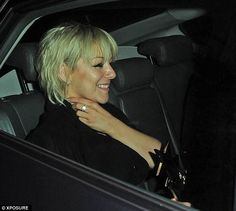 Sheridan Smith is buxom in LBD as she leaves TV Choice Awards Peroxide Hair, Sheridan Smith, Leaf Tv, Tousled Hair, Hair Raising, Choice Awards, Best Actress, Lbd, Actresses