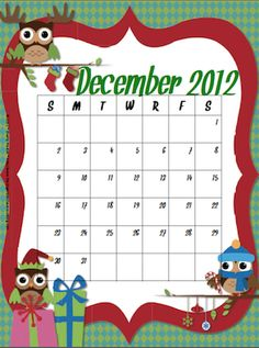 Classroom Freebies: December Calendar Freebie!