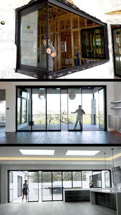 House Gate Design, Home Room Design, Dream Home Design, Modern House Design, Home Interior Design, Container House Design, Building A Container Home, Window Design, Door Design