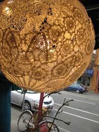 Lace doily lamp project