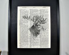 FRAMED Vintage Dictionary Print  Woodland by CantonBoxCompany
