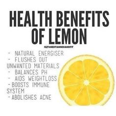 Health benefits of lemon.