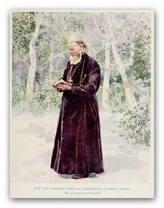Saint John of Kronstadt in his garden.