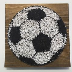 Soccer String Art Sign Sports Art Soccer Ball Wall by KiwiStrings