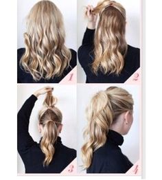 make your hair look like it is super thick & has more volume by following these 4 easy & quick steps