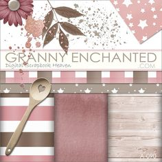 - GrannyEnchanted.Com Digital Scrapbooking Freebies, Digital Scrapbook Paper, Scrapbook Kit, Printable Paper, Have Time, Diy Gifts, Clip Art, Strawberry, Heaven