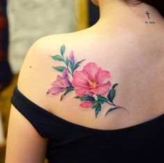 Floral back shoulder piece by Grain