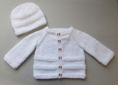 I named this design Roma because the cute little buttons remind me of the Italian flag!  ROMA Baby Cardigan Jacket 0 - 3 mont...