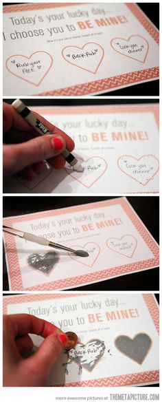 DIY Scratch-Off Valentine Card…