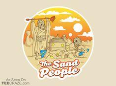 The Sand People T-Shirt - http://teecraze.com/the-sand-people-t-shirt/ -  Designed by mellowmind    #tshirt #art #fashion #starwars