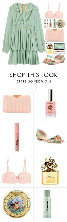 """""""Magic Slippers: Embellished Shoes"""" by palmtreesandpompoms ❤ liked on Polyvore featuring Serpui, Ivanka Trump, Heidi Klum Intimates, Marc Jacobs, Clinique and Accessorize"""