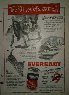 Eveready Battery Original 1949 Advertisement