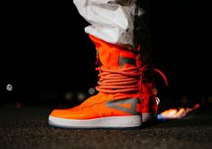On-Feet Images Of The Upcoming Nike Special Field Air Force 1 High Total Orange