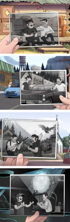 Look into the past by markmak.deviantart.com on @DeviantArt || #GravityFalls