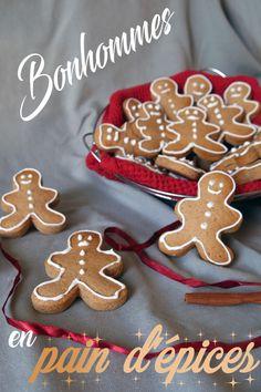 Bonhommes en pain d'épices – lesmainsdansleplatblog Biscuits, Gingerbread Cookies, Cake, Pains, Food, Scones, Muffins, Halloween, Gingerbread Loaf Recipe
