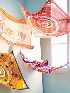 Hermès scarves photographed by Sophie Delaporte