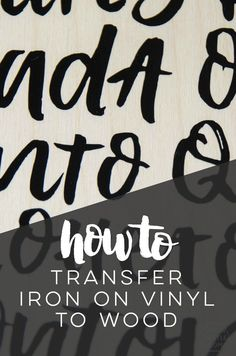 how to transfer iron on vinyl to wood- who knew heat transfer vinyl worked for wood signs! Great tips and tricks