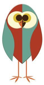 Day 327: Split Retro Owl from http://owladay.wordpress.com/