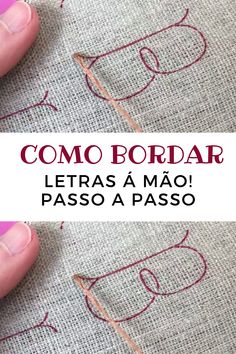 Sugestão de SilMez 🇧🇷 Brasil/ No ponto correntinha a letrinha toma forma!🔤🔡 (Suggestion from SilMez 🇧🇷 Brasil / At the little point the letter takes shape! Bargello Quilts, Hand Embroidery, Couture, Stitch Patterns, Needlework, Arts And Crafts, Letters, Shapes, Knitting