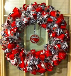 Razorback ribbon wreath