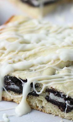 Cookies and Cream White Chocolate Blondies