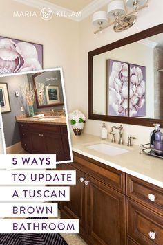 5 Ways to Update Tuscan Brown Bathroom