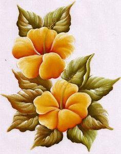 riscos de flores para pintura em tela - Google Search