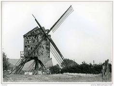 SCHRIEK Bij Heist-op-den-Berg (Antw.) - Molen/moulin - Echte Foto Van Molen ´Grote Bels´ Kort Voor Zijn Instorting - Plaatsen
