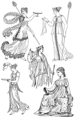 Greek Ancient Regency Period fashion