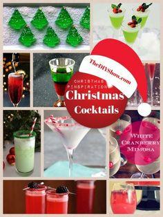 Christmas drinks, cocktails and Jell-O shots