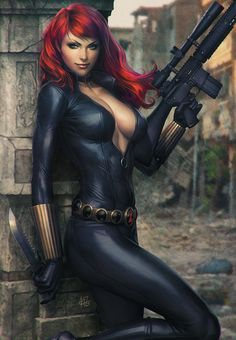 Black Widow Art XM Studio Statue by Artgerm | NOT OUR ART - Please click artwork for source | WRITING INSPIRATION for Dungeons and Dragons DND Pathfinder PFRPG Warhammer 40k Star Wars Shadowrun Call of Cthulhu and other d20 roleplaying fantasy science fiction scifi horror location equipment monster character game design | Create your own RPG Books w/ www.rpgbard.com